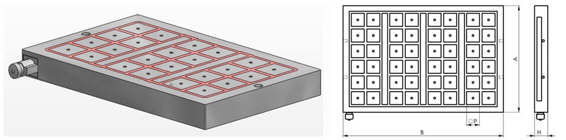 矩形电永磁吸盘