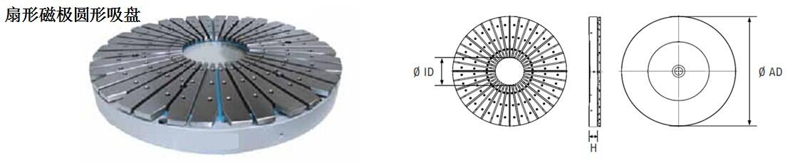 扇形圆形吸盘