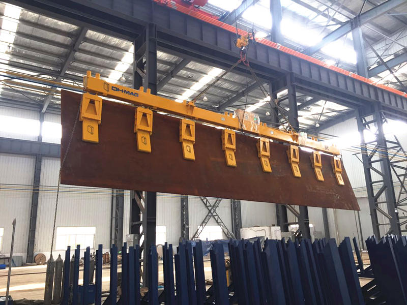 侧吊钢板电永磁铁吊具|竖吊钢板电永磁起重器