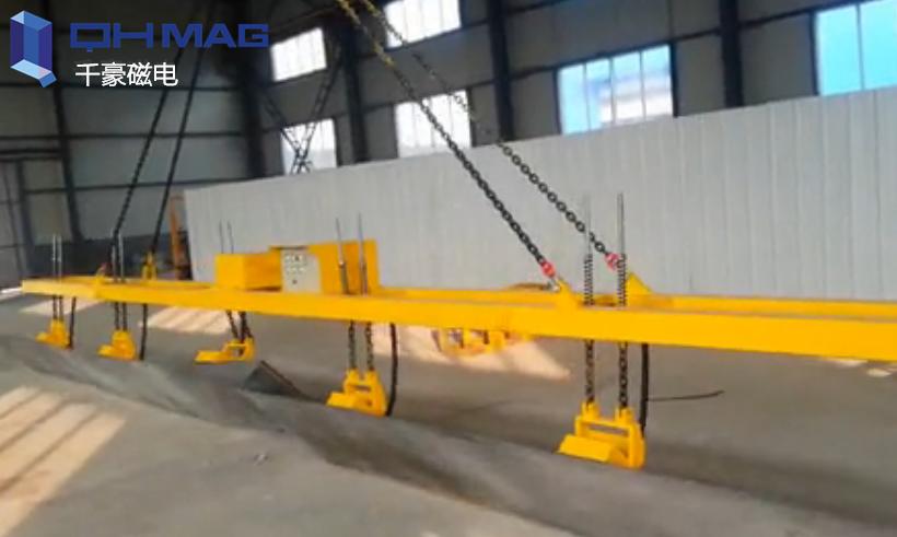 侧吊钢板磁力吊具,千豪可翻转钢板电永磁起重器