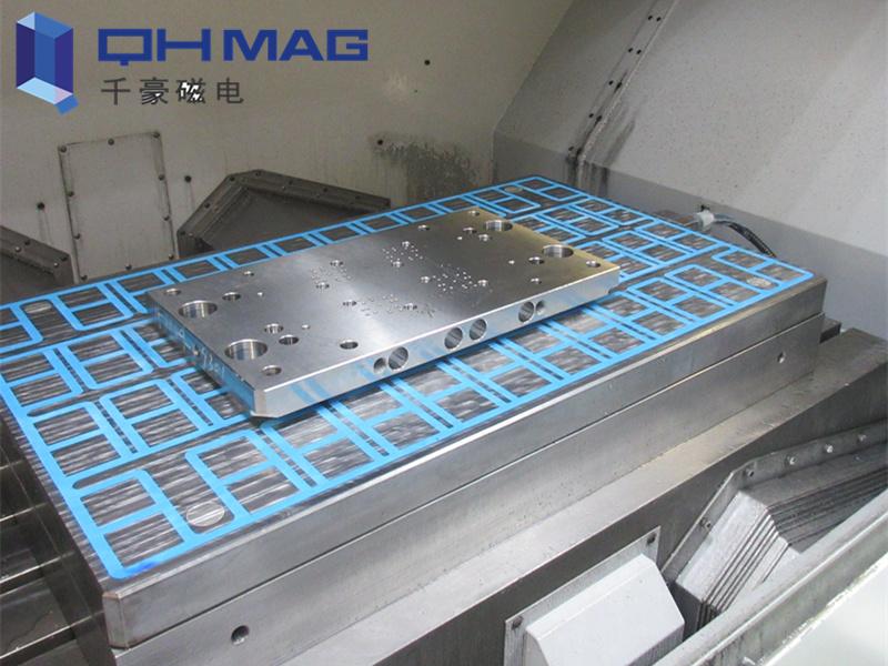 铣床电永磁吸盘,电磁吸盘加工过程|千豪磁电