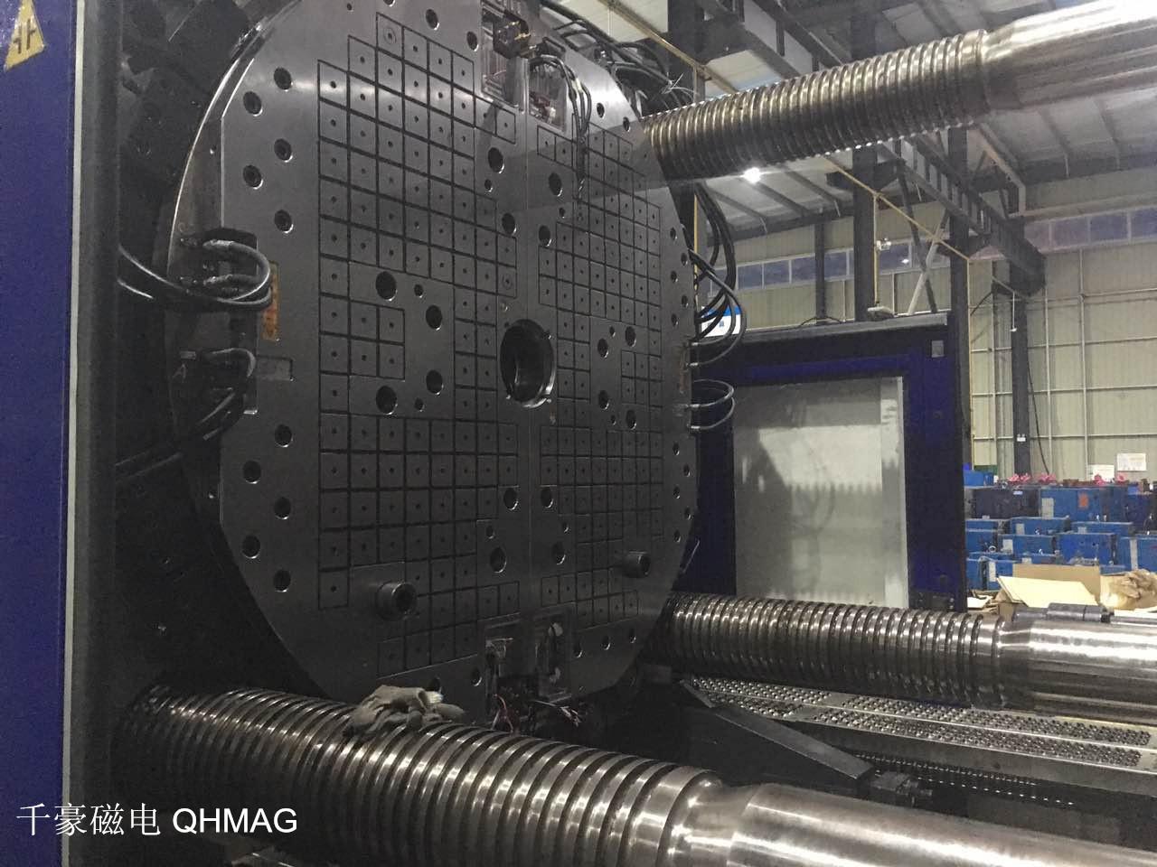 1400吨双色机快速换模系统磁力模板案例