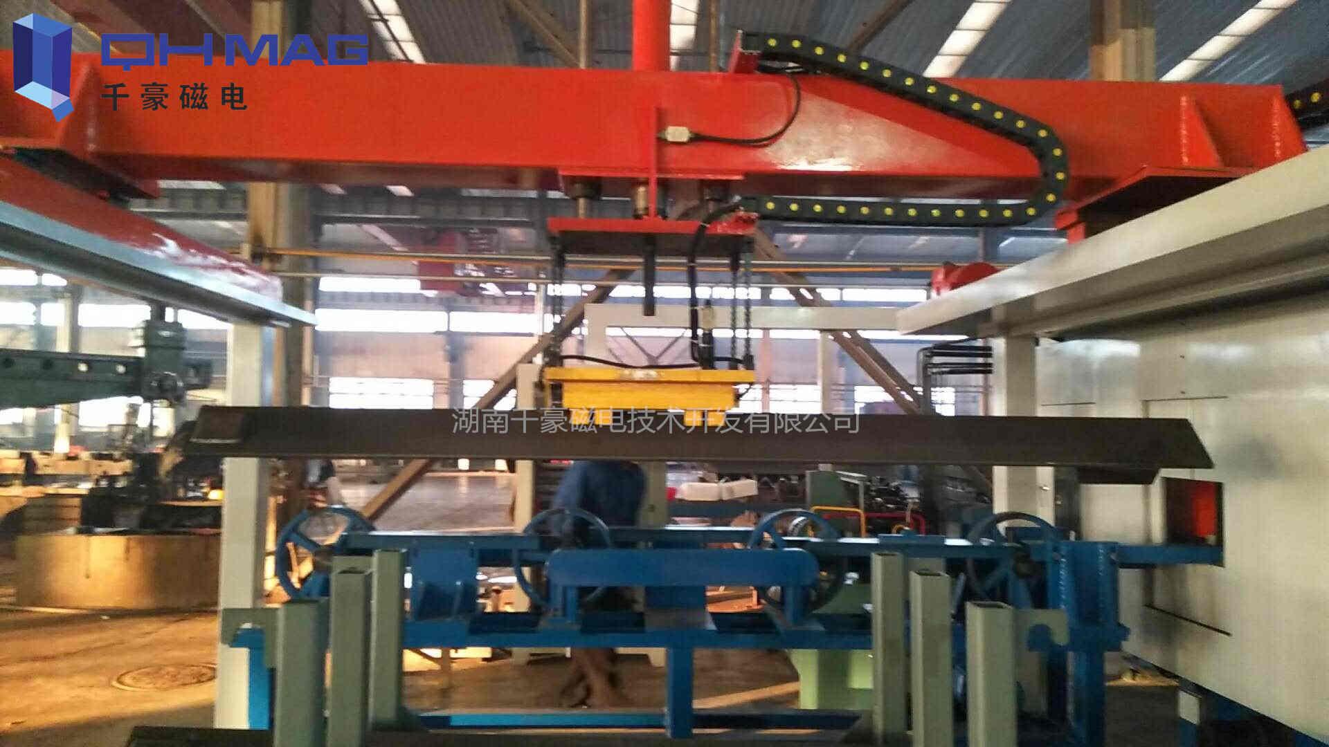 电永磁起重器,搬运宽厚角钢,工装自动化电永磁夹具
