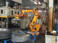 自动化机械手夹持电永磁铁焊接工装夹具